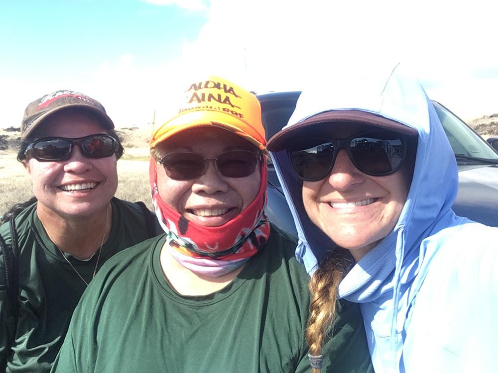 debris-divas-bev-nadine-meg-hawaii-wildlife-fund-jan2020